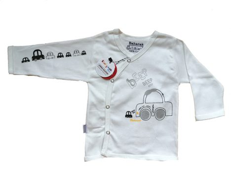 تیشرت دکمه دار آستین بلند از ست نوزادی بهارک مدلBKG
