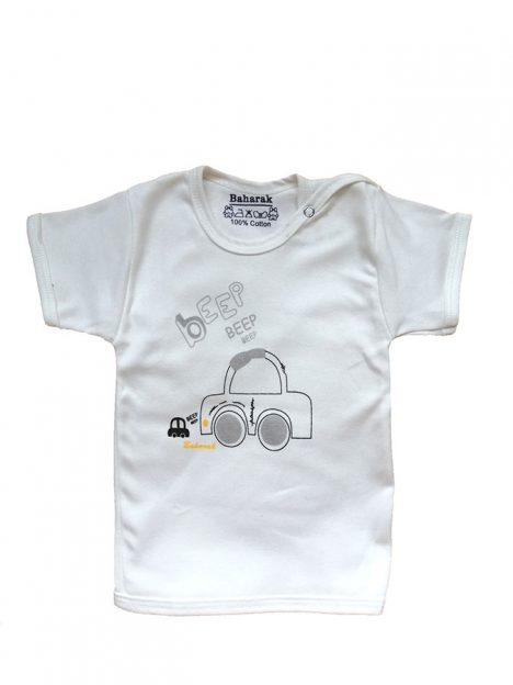 تیشرت آستین کوتاه از ست نوزادی بهارک مدلBKG