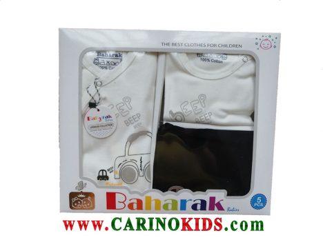 ست 5 تکه لباس نوزادی بهارک مدل BKG