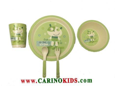 ظرف غذای کودک بامبو ست 5 تکه مدل BM455