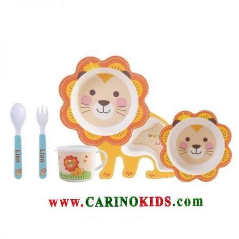ظرف غذای کودک بامبو ست 5 تکه مدل BM456