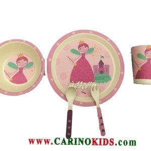 ظرف غذای کودک بامبو ست 5 تکه مدل BM458