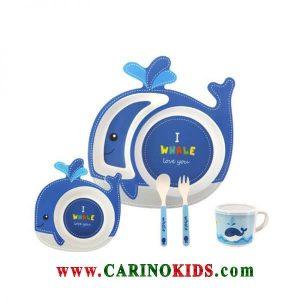 ظرف غذای کودک بامبو ست 5 تکه مدل BM457