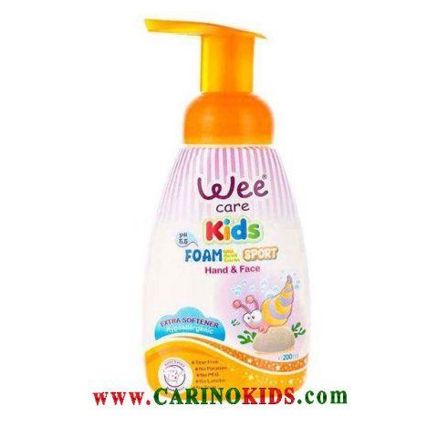 فوم شستشوی دست و صورت کودک وی کر (wee care )