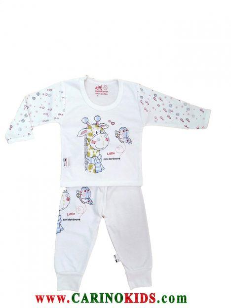 لباس نوزادی طرح زرافه 100% نخی