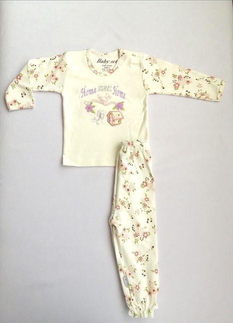 لباس نوزادی گلدار بیبی ست 100% نخی سایز 6 تا 9 ماه