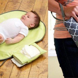 استفاده از زیر انداز کیفی تعویض نوزاد مدل CH12