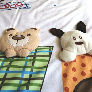 نمای عروسک های برجسته سرویس خواب کودک چهار تکه