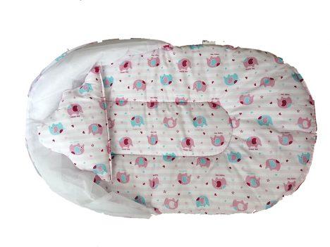 نمای تاشده پشه بند تشک دار نوزادی مدل PST1