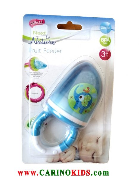 پستانک میوه خوری نوزاد next to nature مدل FR9 رنگ آبی