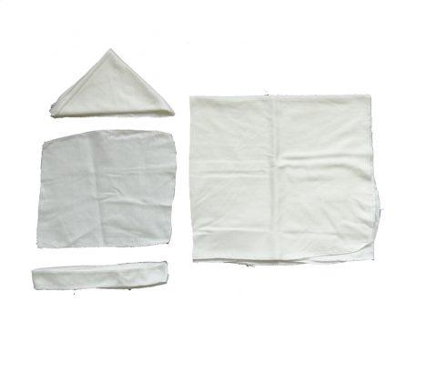 دستمال نخی و ملحفه