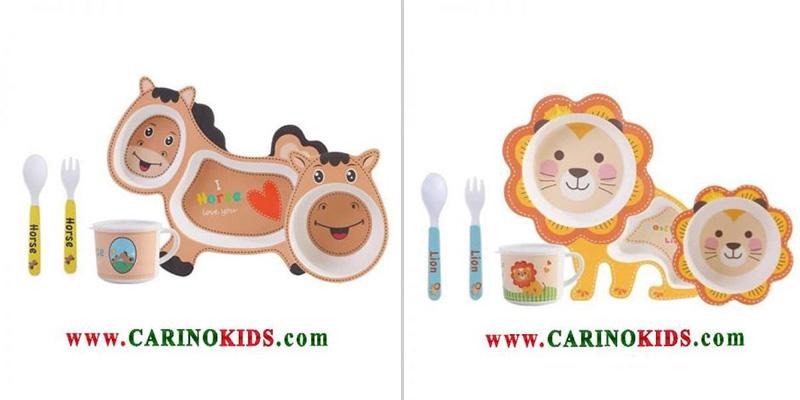 ظروف-غذاخوری-بامبو-مناسب-برای-غذا-دادن-به-کودک
